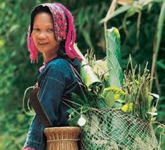 Miao woman with basket